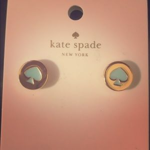Kate Spade NWT Gold and Turquoise Spade earrings